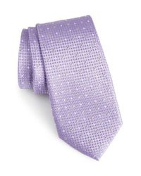 Calibrate - Purple Gest Dot Silk Tie for Men - Lyst