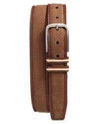 Mezlan - Brown Nobuk Leather Belt for Men - Lyst