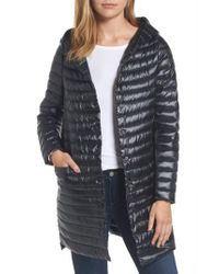 Sam Edelman - Black Reversible Down & Feather Fill Puffer Jacket - Lyst