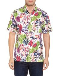 Tommy Bahama - Multicolor Riviera Garden Floral Silk Blend Camp Shirt for Men - Lyst