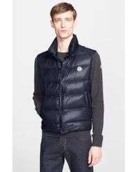Moncler - Blue 'Tib' Down Vest for Men - Lyst