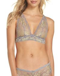 Honeydew Intimates - Multicolor Camellia Lace Triangle Bralette - Lyst