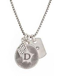 Treasure & Bond | Metallic Triple Charm Initial Pendant Necklace | Lyst