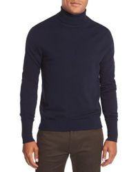 Vince Camuto | Blue Merino Wool Turtleneck for Men | Lyst