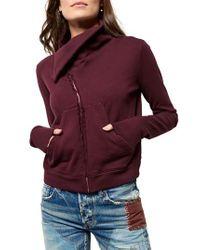 Frank & Eileen - Multicolor Zip Fleece Jacket - Lyst