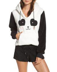 Cozy Zoe   Black Hooded Plush Pajamas   Lyst