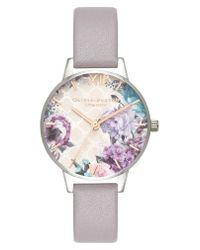 Olivia Burton - Multicolor Glasshouse Leather Strap Watch - Lyst