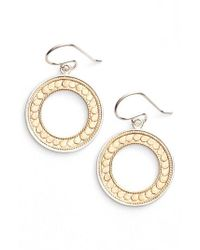 Anna Beck - Metallic Open Circle Drop Earrings - Lyst