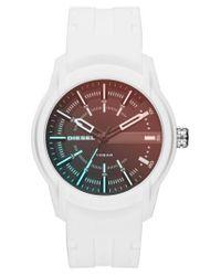 DIESEL - Multicolor Diesel Rasp Silicone Strap Watch for Men - Lyst