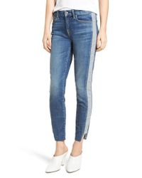 7 For All Mankind Blue 7 For All Mankind Side Panel Inset Ankle Skinny Jeans