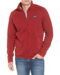 Patagonia - Red Better Sweater Zip Front Jacket for Men - Lyst