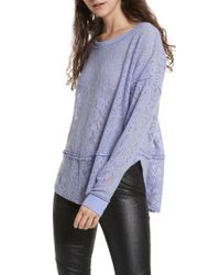 Free People - Purple Not Cold In This Top - Lyst