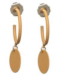SHOSHANNA LEE - Yellow Hanging Medallion Hoop Earrings - Lyst