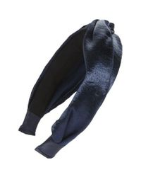 Cara | Blue Metallic Twist Knot Headband | Lyst