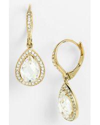 Nadri - Metallic Pear Drop Earrings (nordstrom Exclusive) - Lyst