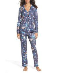 Love+Grace - Blue Clara Flannel Pajamas - Lyst