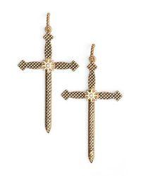 Luv Aj - Metallic Serpent Cross Earrings - Lyst