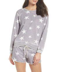 Honeydew Intimates - Gray Burnout Lounge Sweatshirt - Lyst
