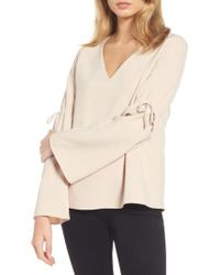 Cooper & Ella - Natural Ingrid Bell Sleeve Top - Lyst
