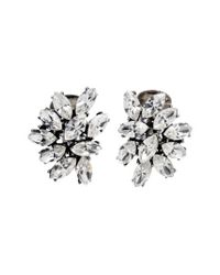 Ben-Amun - Metallic Swarovski Crystal Cluster Clip Earrings - Lyst