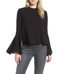 Chelsea28 | Black Bell Sleeve Top | Lyst