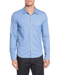 Zachary Prell - Blue Glacier Knit Sport Shirt for Men - Lyst