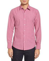 Zachary Prell - Pink Italo Seersucker Woven Sport Shirt for Men - Lyst