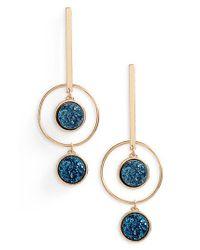 Panacea - Black Geometric Drop Earrings - Lyst