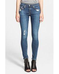 Rag & Bone - Blue 'the Skinny' Stretch Jeans - Lyst
