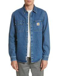 Carhartt WIP | Blue Salinac Shirt Jacket for Men | Lyst