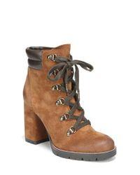 Sam Edelman - Brown Carolena Lace-up Boot - Lyst