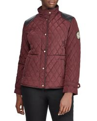 Lauren by Ralph Lauren - Black Quilted Jacket - Lyst