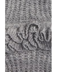 Rebecca Minkoff Gray Ruffled Fingerless Gloves