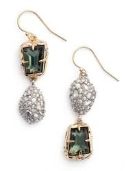 Alexis Bittar - Metallic Elements Crystal Drop Earrings - Lyst