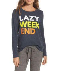 Chaser - Multicolor Lazy Weekend Love Knit Sweatshirt - Lyst