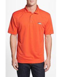 Cutter & Buck - Orange 'Denver Broncos - Genre' Drytec Moisture Wicking Polo for Men - Lyst