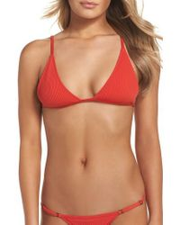 Minimale Animale | Red The Mirage Ribbed Bikini Top | Lyst
