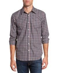 Jeremy Argyle Nyc   Gray Slim Fit Plaid Sport Shirt for Men   Lyst
