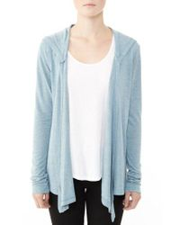 Alternative Apparel - Blue Hooded Jersey Wrap - Lyst