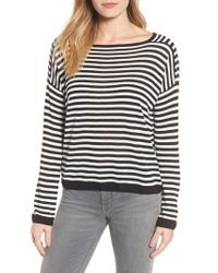 Eileen Fisher - Multicolor Stripe Lyocell Knit Sweater - Lyst
