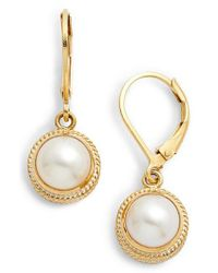 Anna Beck - Metallic Pearl Drop Earrings - Lyst