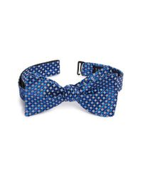 Ted Baker - Blue Geometric Silk Bow Tie for Men - Lyst
