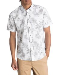 Quiksilver   White Waterman Collection Agavy Print Sport Shirt for Men   Lyst