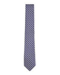Topman - Blue Geo Print Woven Tie for Men - Lyst