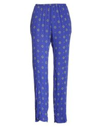 Free People - Blue Shirt Up Pants - Lyst