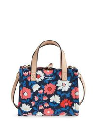 Kate Spade - Blue Washington Square - Small Sam Canvas Satchel - Lyst