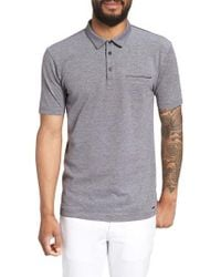 HUGO - Black Darrow Cotton Polo Shirt for Men - Lyst