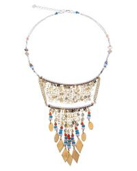 Nakamol - Metallic Double Layer Beaded Fringe Bib Necklace - Lyst
