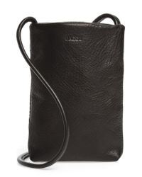 Baggu - Black Leather Phone Crossbody Bag - Lyst