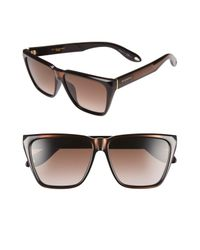 Givenchy - Black 7002/s 58mm Sunglasses for Men - Lyst